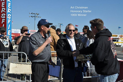 Art Chrisman the 1959 event winner was the Honorary Starter