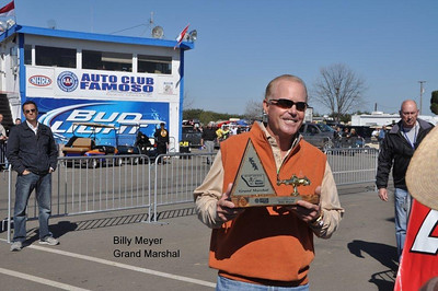 Ex funny car racer and owner of the Texas Motorplex  Billy Meyer served as Grand Marshall