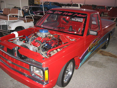 Clean Chevy S-10 truck used nitrous to go extra fast.