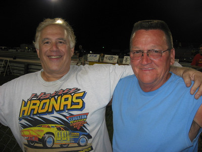 Track part owner and Pro Stock veteran Harry Hronas and track manager Jerry Goss kept things moving, were great hosts.