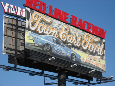 Redline Raceway has a great location. Literally an exit off a major highway East of Dallas with this huge billboard announcing the location to all travelers.