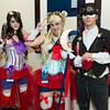 Sailor Mars, Sailor Moon, and Tuxedo mask