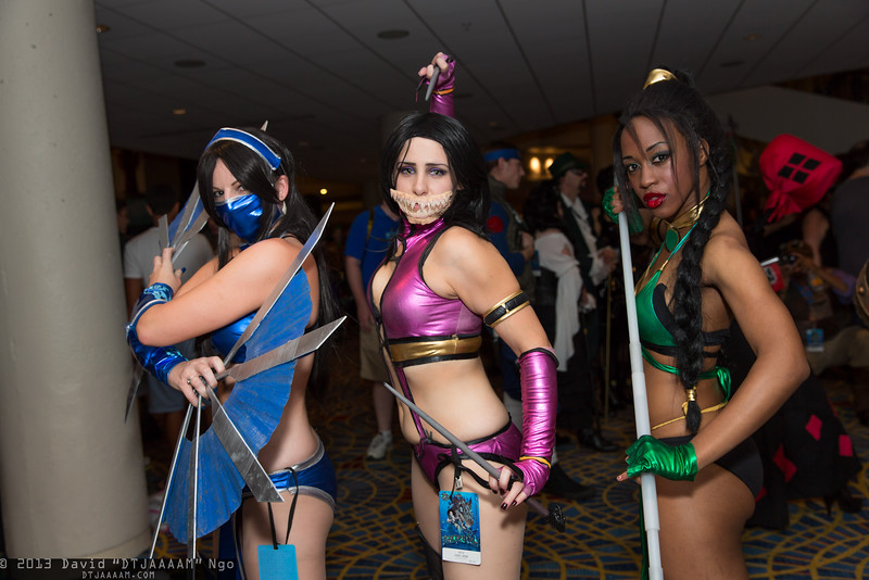 Kitana, Mileena, and Jade