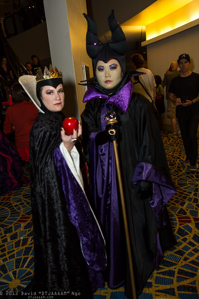 Queen Grimhilde and Maleficent
