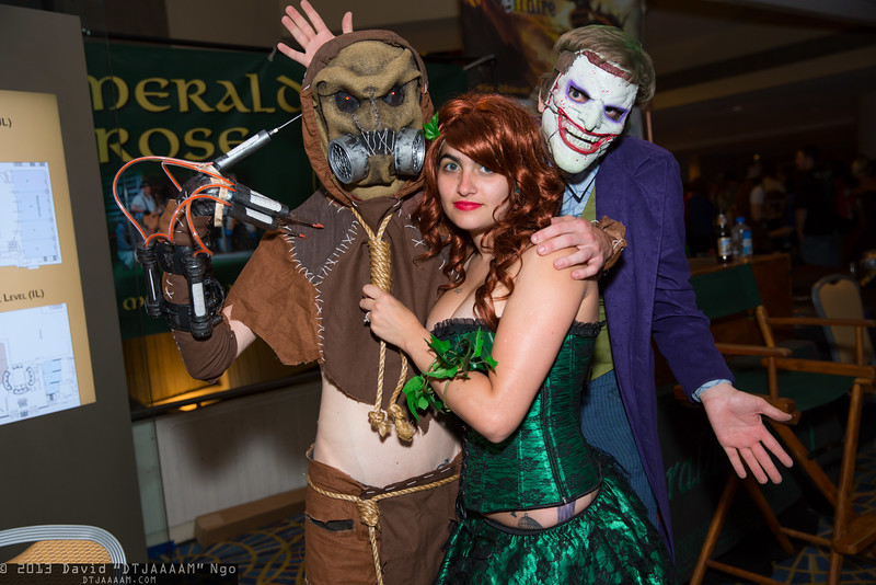 Scarecrow, Poison Ivy, and Joker