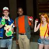 Ash Ketchum, Brock, Misty, and Pikachu