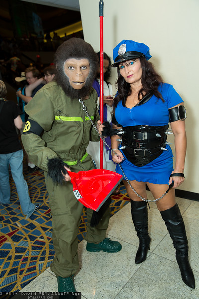 Ape and Police Officer