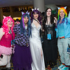 Pinkie Pie, Twilight Sparkle, Rarity, Nightmare Moon, and Rainbow Dash