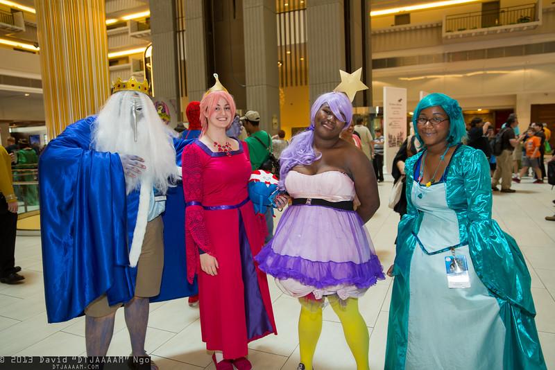 Ice King, Princess Bubblegum, Lumpy Space Princess, and BMO