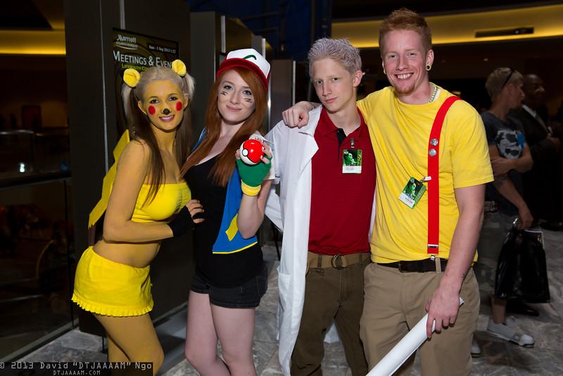 Pikachu, Ash Ketchum, Professor Oak, and Misty