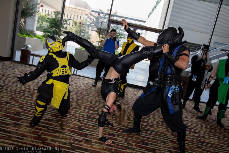 Cyrax, Sonya Blade, and Sub-Zero