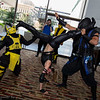 Cyrax, Sonya Blade, and Sub-Zero