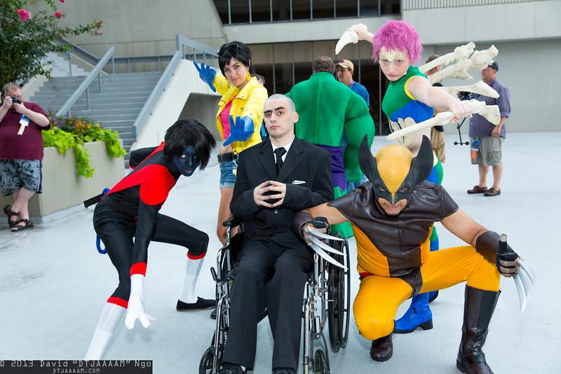 Nightcrawler, Jubilee, Professor X, Wolverine, and Marrow