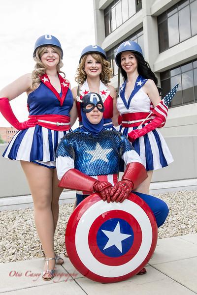 Captain America & USO Girls 2014