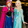 Anna, Elsa, and Olaf