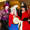 Mad Hatter, White Rabbit, and Queen of Hearts