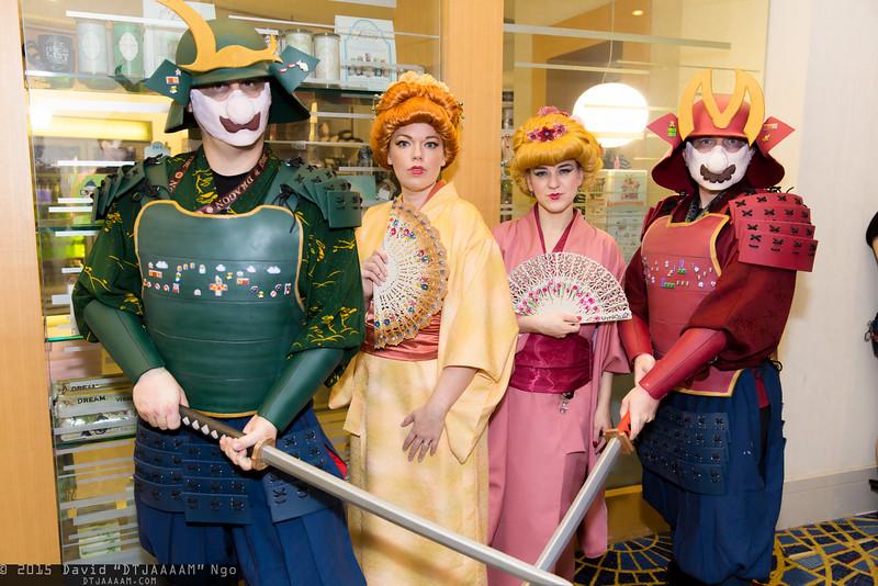 Luigi, Princess Daisy, Princess Peach, and Mario