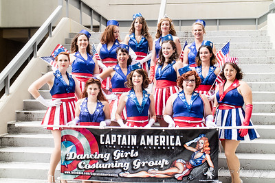 Captain America & USO Girls 2016