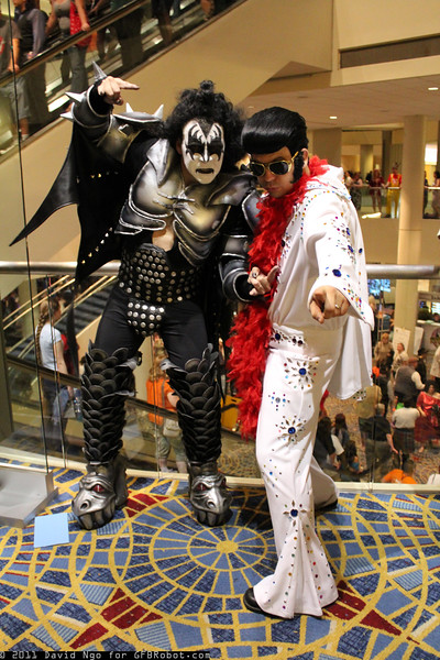 Gene Simmons and Elvis Presley