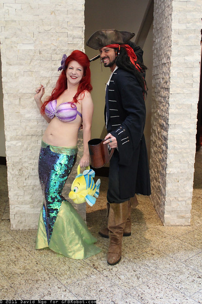 Ariel and Captain Jack Sparrow
