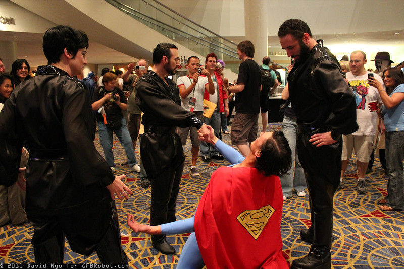 Ursa, General Zod, Superman, and Non