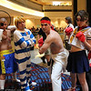 Sagat, Cody Travers, Ryu, and Sakura Kasugano