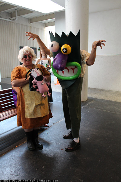 Muriel Bagge, Eustace Bagge, and Courage the Cowardly Dog