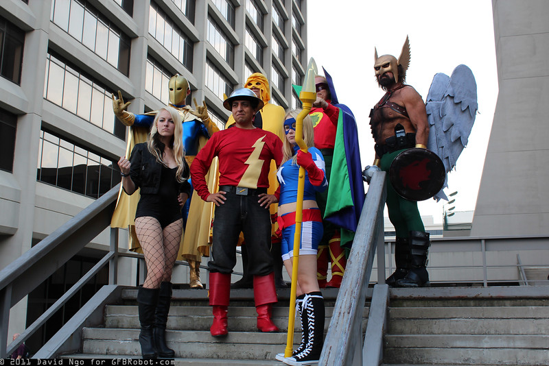 Dr. Fate, Hourman, Green Lantern, Hawkman, Black Canary, Flash, and Stargirl