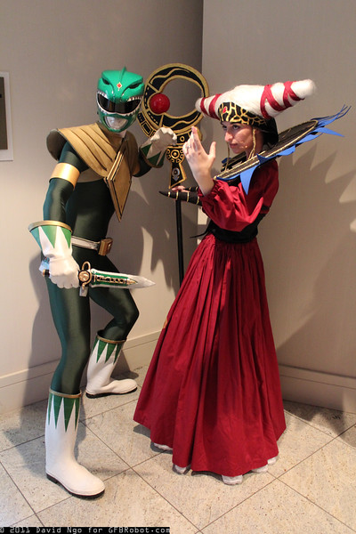 Green Ranger and Rita Repulsa
