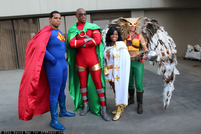 Ultraman, Icon, Mary Marvel, and Hawkgirl