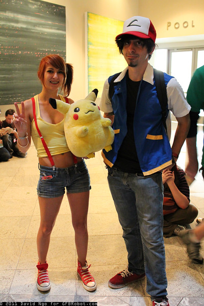 Misty, Ash Ketchum, and Pikachu
