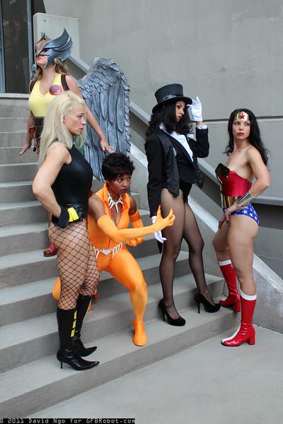 Hawkgirl, Black Canary, Vixen, Zatanna, and Wonder Woman