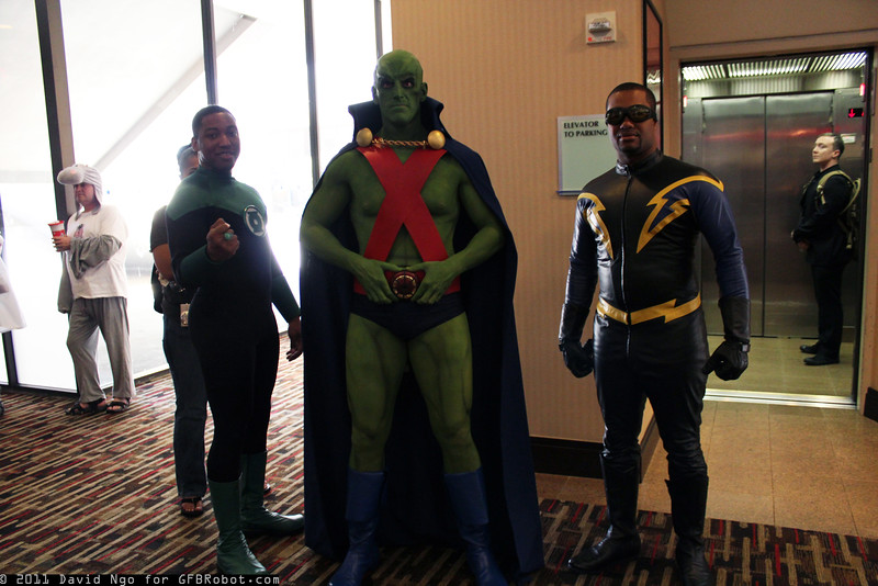 Green Lantern, Martian Manhunter, and Black Lightning