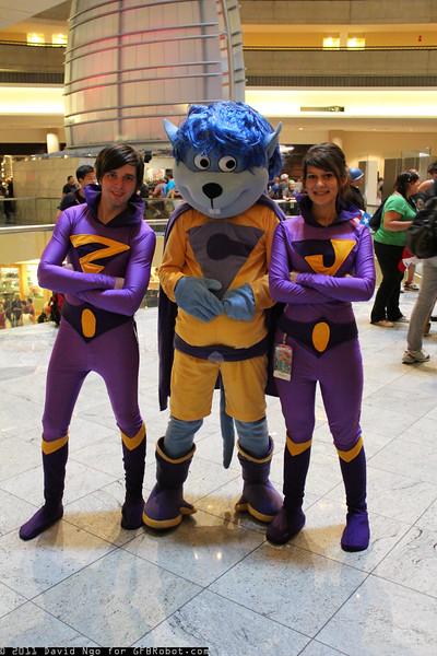Zan, Gleek, and Jana