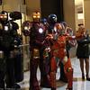War Machine, Iron Man, Captain America, Rescue, and Pepper Potts