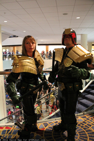 Judge Anderson and Judge Dredd