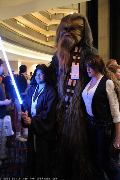 Obi-Wan Kenobi, Chewbacca, and Han Solo