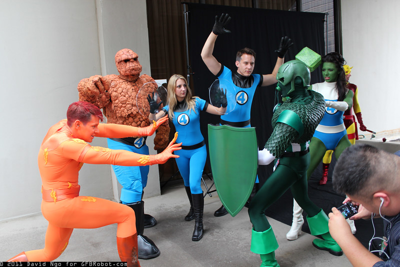 Human Torch, Thing, Invisible Woman, Mr. Fantastic, Super-Adaptoid, and She-Hulk