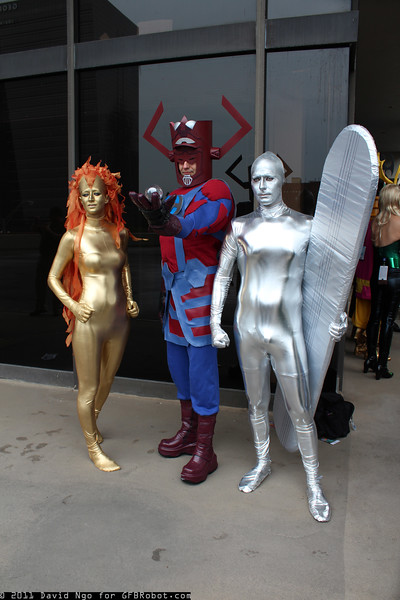 Nova, Galactus, and Silver Surfer