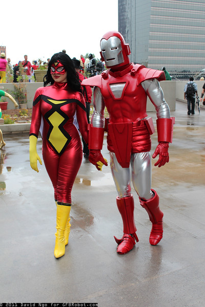 Spider-Woman and Iron Man