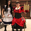 Alice and Queen of Hearts