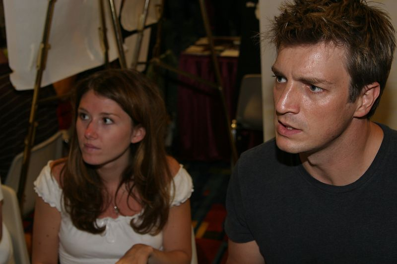 Jewel Staite and Nathan Fillion