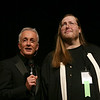 Joseph Michael Linsner and Anthony Daniels at the Dawn Contest at DragonCon