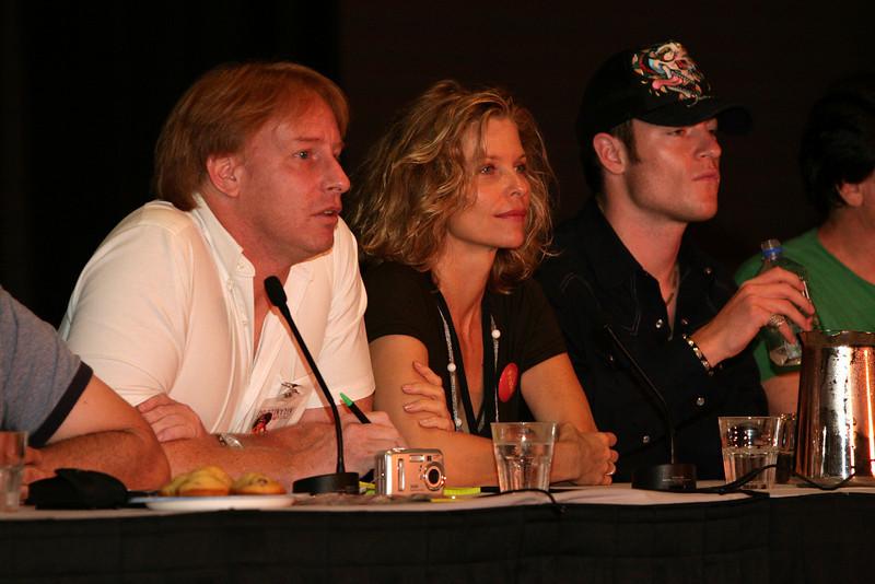 Kevin R. Grazier, Kate Vernon plays Ellen Tigh on Battlestar Galactica