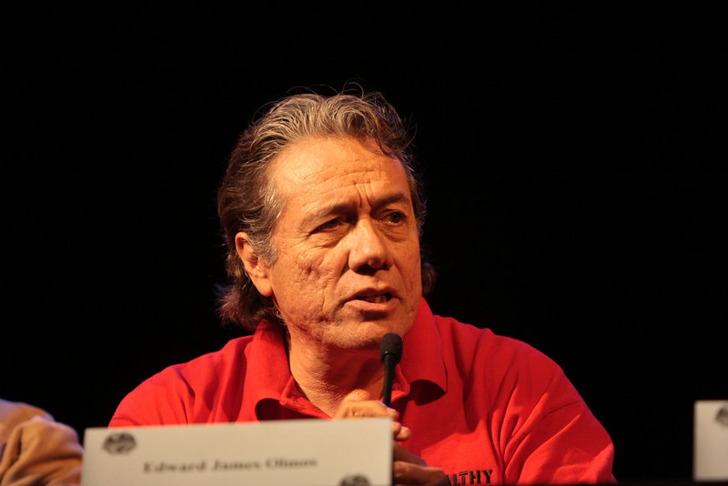 Edward James Olmos plays Admiral William Adama in the Sci-Fi channel's series Battlestar Galactica.