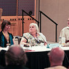 "Jody Lynn Nye, Anne McCaffrey, and Todd McCaffrey at the ""Bob AsprinÕs Last Bad Joke"" panel."