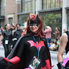 Superheroes participanting in the 2008 DragonCon Parade down Peachtree Street.
