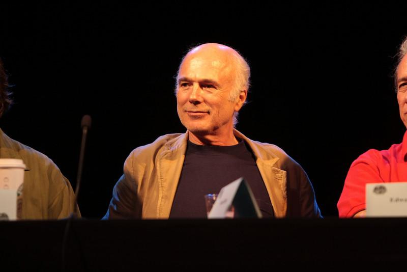 Michael Hogan portrays Colonel Saul Tigh in the Sci-Fi channel's series Battlestar Galactica.