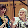 "Jody Lynn Nye and Anne McCaffrey, at the ""Bob AsprinÕs Last Bad Joke"" panel."
