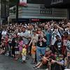Fans enjoying the 2008 DragonCon Parade down Peachtree Street.